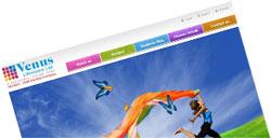 venus lifestyle web design
