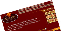 kailash sweets web design